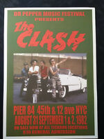 The Clash: New York City 1982 Reproduction A3 Concert Reprint