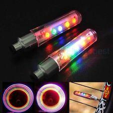 LED Flashing Neon Car Bike Wheel Tire Tyre Valve Dust Cap Spoke Lights 2Pcs