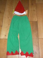 Girl's or boy's elf trousers and hat 4-7 years