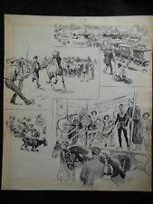 Original 1903 Daily Graphic G K (George) Jones Barnet Fair Illustration - Rare
