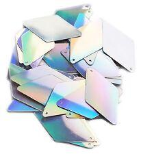 "Silver Lazersheen  Metallic Long Diamond 1.75"" Couture Sequin Paillettes."
