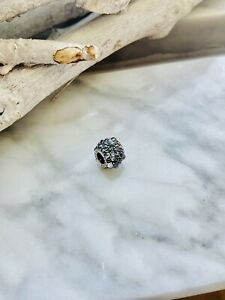 PANDORA Schmuck Bead-Charm Blaue Pave Kugel