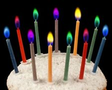 Aussie Stock 24 Colored Flames Candles safe Party Birthday Cake Deco