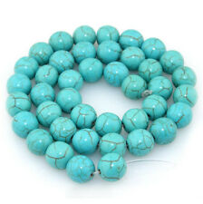 Turquoise Gemstone Round Spacer Loose Beads Jewelry Findings 4/6/8/10MM