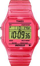 Timex T2N805 Reloj Core Digital (Pulsera de plástico rosa)