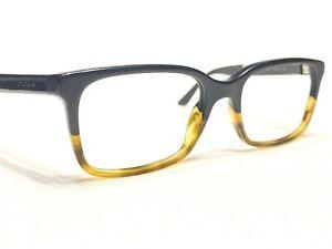 Bvlgari 3018 5227 Men's Black Tortoise Fade Rx Designer Eyeglasses Frames 52/18