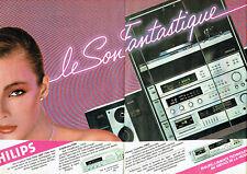 Publicité Advertising 088  1981  chaine hi-fi ampli platine Philips  (2 pages)