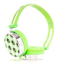 Adjustable Kids Childrens Skull Headphones Green for iPad mini iPad Air iPad 3 4