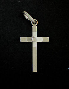 Sterling Silver Cross inside Cross Pendant 925