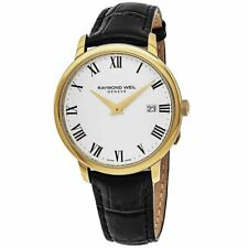 Raymond Weil Toccata Men's White Dial Black Leather Watch - 5488-PC-00300 NEW