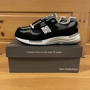 New Balance Men's 992 M992EB Black, Grey, and White Shoes Size 12