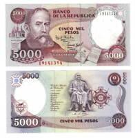 COLOMBIA UNC 5000 Pesos Banknote (1994) P-440 Paper Money