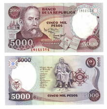 COLOMBIA UNC 5000 Pesos Banknote (1994) P-440 Paper Money