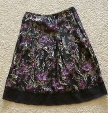 Loft 0 Petite Skirt Multi 23 Inch Clothing Short Side Zip Ann Taylor Fashion