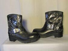 boots/bottines  miz mooz cuir gris anthracite et métal 36