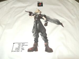 FINAL FANTASY VII 7 Squaresoft CLOUD Vintage RPG 90s AUTHENTIC Promo T-shirt XL