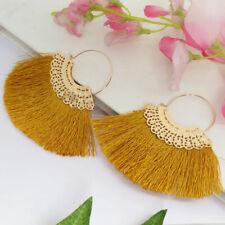 Women Wedding Earring Thread Tassel Dangle Drop Girl Fashion Orange Earring Gift