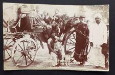 Postcard Native Wedding India Hindu Carriage Wedding Party RP K Ltd ref1870
