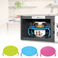 Microwave Oven Cover Dish Plate Holder Insulated Tray Heating Double Layer Tool