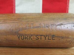 "Vintage Hanna Wood 'Semi Pro' Baseball Bat Rudy York Style 34"" Detroit Tigers"