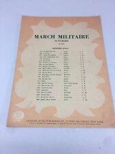 March Militaire Franz Schubert No 1648 Century Music Publishing Co. Music Sheet