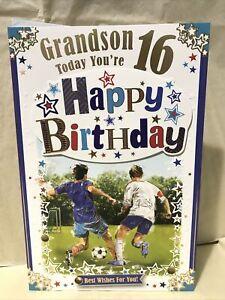 Grandson 16th Birthday Greeting Card