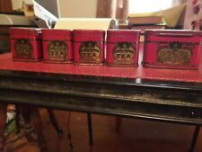 lot of 5 pride of odessa tea tin russian blend
