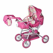 "Knorr Toys Knorr10838 ""Twingo S Combi"" Pink Stripe Doll Pram and Buggy"
