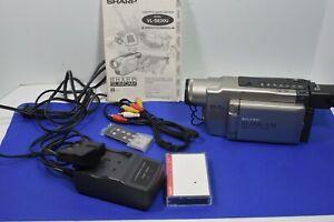 Sharp  VL-SE20U SLIMCAM 8mm Video Camcorder VCR Player Camera Bundle WORKS