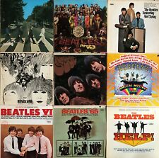 THE BEATLES LP VINYL RECORDS LOT SGT PEPPERS REVOLVER ABBEY ROAD RUBBER SOUL...
