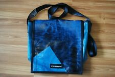 FREITAG LARGE MESSENGER SHOULDER BAG RARE BLUE COLOR ORIGINAL TRUCK TARPS