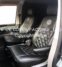 PREMIUM  TWO SINGLES VW CADDY  VAN SEAT COVER GREY BENTLEY EXACT CM FIT