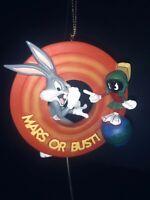 3D BUGS BUNNY & MARVIN THE MARTIAN Looney Tunes Christmas Ornament Bradford LE