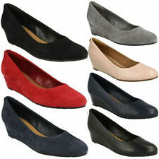 Clarks Suede Wedge Heels for Women