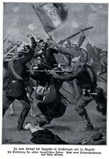1914 * lotta in Lagarde il 11. agosto 1914 * antique print