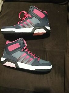 New in Box Adidas Neo High Top Shoes Sneakers: Women's Sz 6.5, Black, Pink