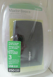 Maxtor Basic External Portable Hard Drive 250GB – For Mac OS (ONLY) – New