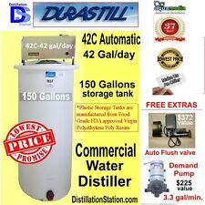 Durastill 42C 42gal/day Auto- Commercial Distiller 150gal tank- $600 FREE extras