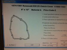Kawasaki KX125  Clutch Cover Gasket  1978 1979 1980 1981