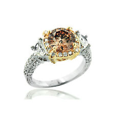 Goldschmuck Ringe Diamanten Cognac Natur 18 Karat 750er Weißgold  2,05 ct  Neu