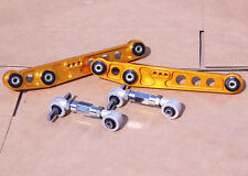 2nd GEN GOLD REAR LOWER CONTROL ARM + CAMBER KIT CIVIC CRX 88-91 INTEGRA 90-93