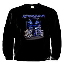 American Custom Bike Chopper Motorrad Biker Garage Shop Sweatshirt *4010 bl