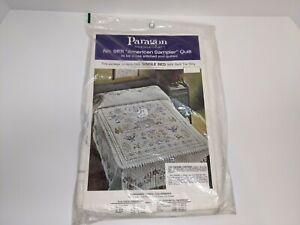 Vintage American Sampler Paragon Needlecraft Single Bed Quilt Kit No 01171