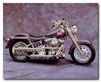 Vintage Harley Davidson Motorcycle Wall Decor Art Print Poster (16x20)