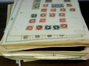 US/WW, 1000s of Stamps mostly hinged in remainder pages & sheets of stamps(CTOs)