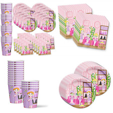 Spa Salon Birthday Party Supplies Set Plates Napkins Cups Tableware Kit For 16 B