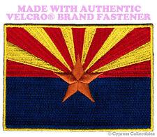 ARIZONA STATE FLAG PATCH EMBROIDERED SYMBOL APPLIQUE w/ VELCRO® Brand Fastener