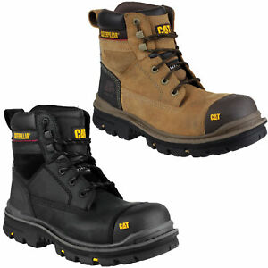 Mens Caterpillar Gravel 6 Steel Toe Cap Work Safety Lace Up Boots Sizes 6 to 13