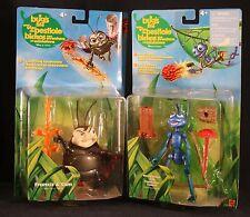 "Disney Pixar ""A Bugs Life"" X 2 in Original Packages Flik Francis & Slim Mattel"
