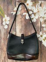 Brighton Leather Shoulder Bag Purse Black Brown